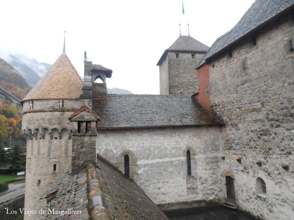 Fachada del castillo de Chillon - Los viajes de Margalliver.com